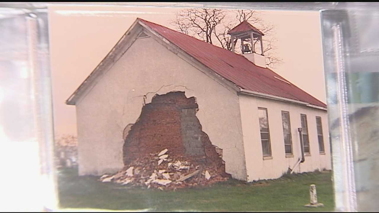 In southern Campbell County there are not many visible signs of the devastating tornado that ripped through the community on March 2, 2012. Many have rebuilt, with the exception of the local landmark, the historical Wesley Chapel Church.