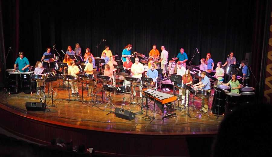 The Miami University Steel Band celebrated 20 years of music at its spring concert Wednesday night in Oxford.