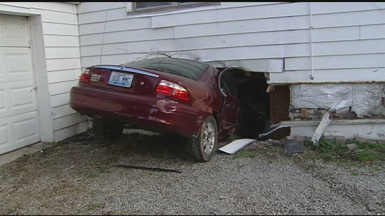 The chase crossed the river into Union Township, where the driver lost control near the corner of Ross and Mt. Carmel-Tabasco and crashed into the house.