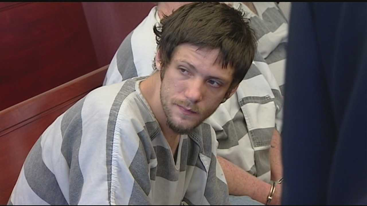 Mickey Marcum, 25, was accused of breaking into homes and stealing cash, phones and electronics.