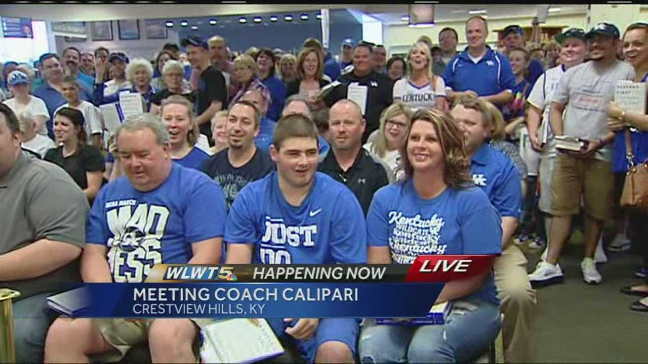 University of Kentucky basketball coach John Calipari was in the Tri-State promoting his new book.
