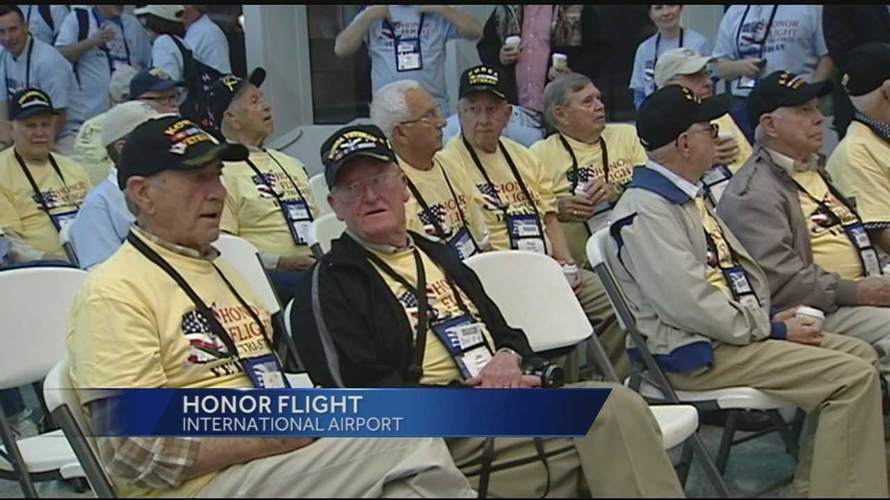 War veterans took part in the first Honor Flight of the year Tuesday. The group flew to Washington D.C., toured memorials and saw the nation's capital and then will return home Tuesday night about 10 p.m.