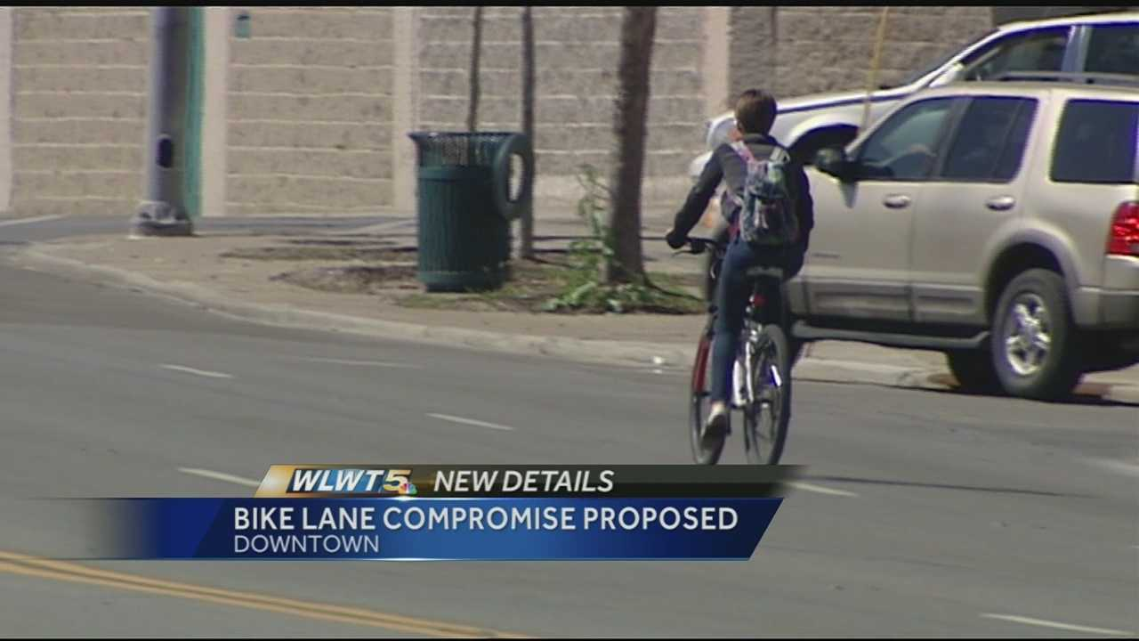 Bike path plan along Central Pkwy. causing friction between businesses, cyclists