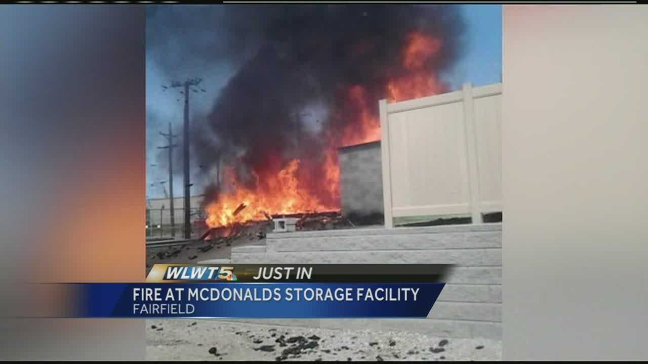 Fire destroys McDonald's storage building