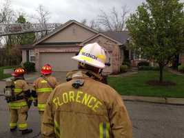 Lightning strike hits home on Taramore Place in NKY.
