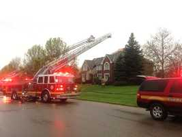 Home hit by lightning on Eagle Ridge Drive in West Chester
