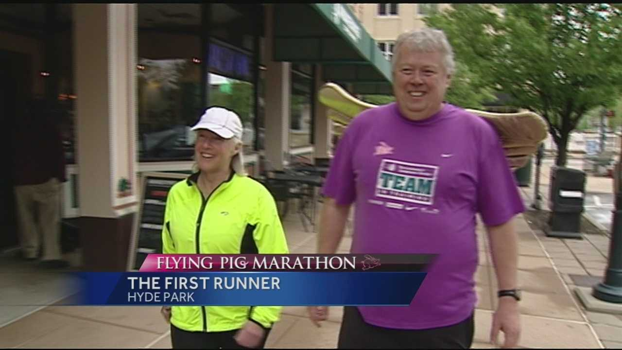 Bob Platt could be considered a professional marathoner with the number of races he has participated in. Platt said he has ran a marathon in all 50 states and one on all 7 continents. On Sunday the Flying Pig Marathon will mark the 150th marathon for Platt.
