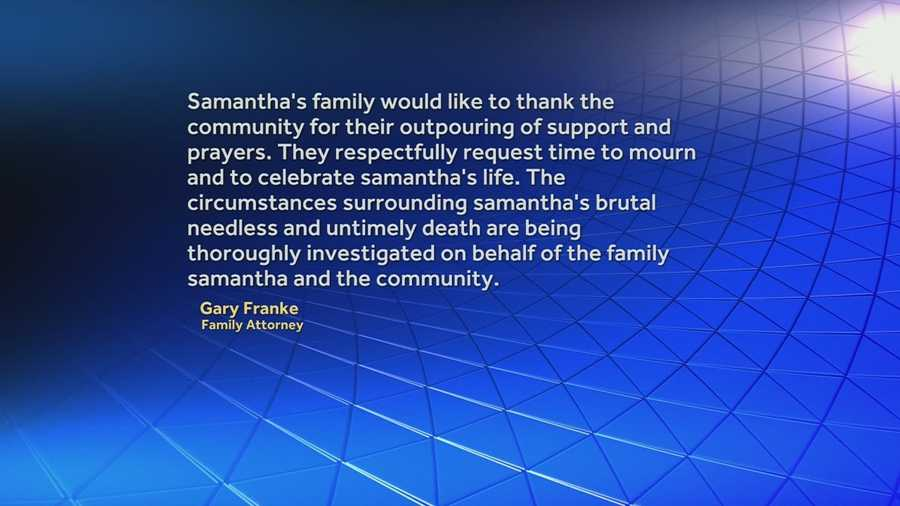 The attorney for Samantha Ramsey's family releases a statement in response to KSP's decision not to lead the investigation.