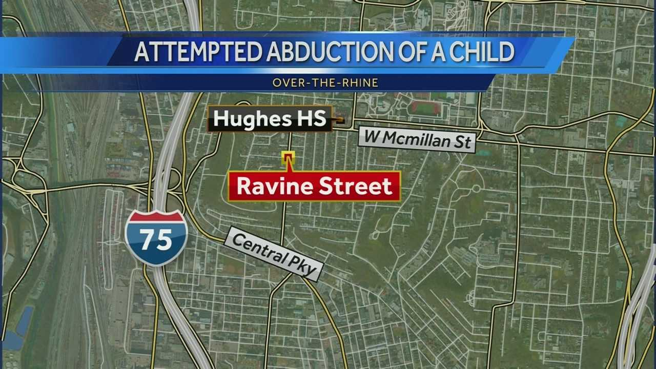 Police said a 14-year-old girl was walking on Ravine Street on her way to Hughes High School about 8:45 a.m. Friday when a man drove up next to her. The girl told police that the man complimented her, then drove up on the sidewalk ahead of her, got out of the car and approached her. After they exchanged words the man allegedly grabbed her hair and tried to abduct her, but the girl broke free.