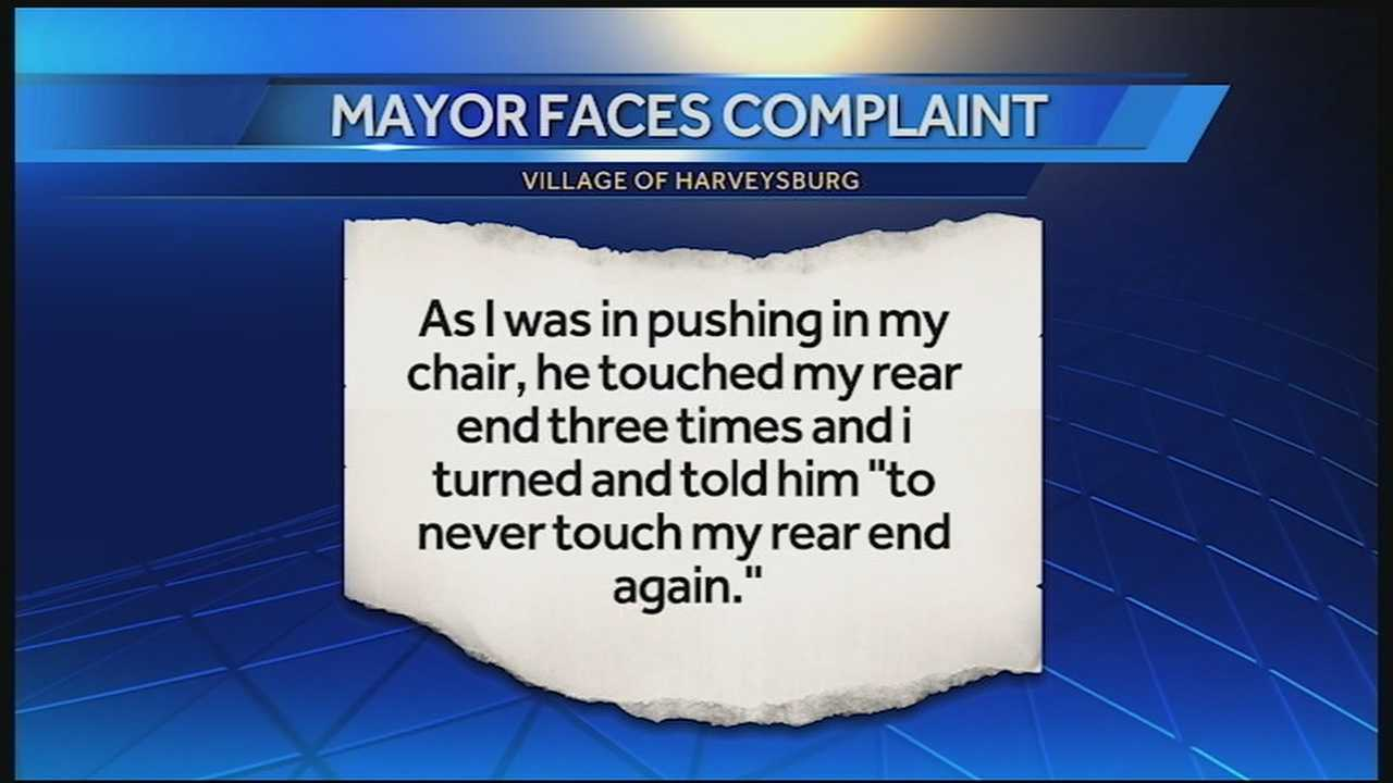 Mayor denies accusations he grabbed village employee's butt