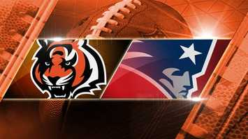Week 5: Bengals at Patriots: The Bengals head to New England to play the Patriots in Gilette Stadium on Sunday, Oct. 5 at 8:30 p.m. Watch live on WLWT!