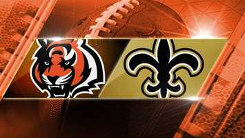 Week 11: Bengals at Saints: The Bengals travel to New Orleans to take on the Saints on Sunday, Nov. 16 at 1 p.m. in Mercedes-Benz Superdome.