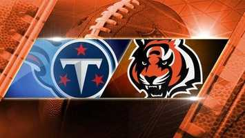 Week 3: Titans at Bengals: The Tennessee Titans play at Paul Brown Stadium on Sunday, Sept. 21 at 1 p.m.