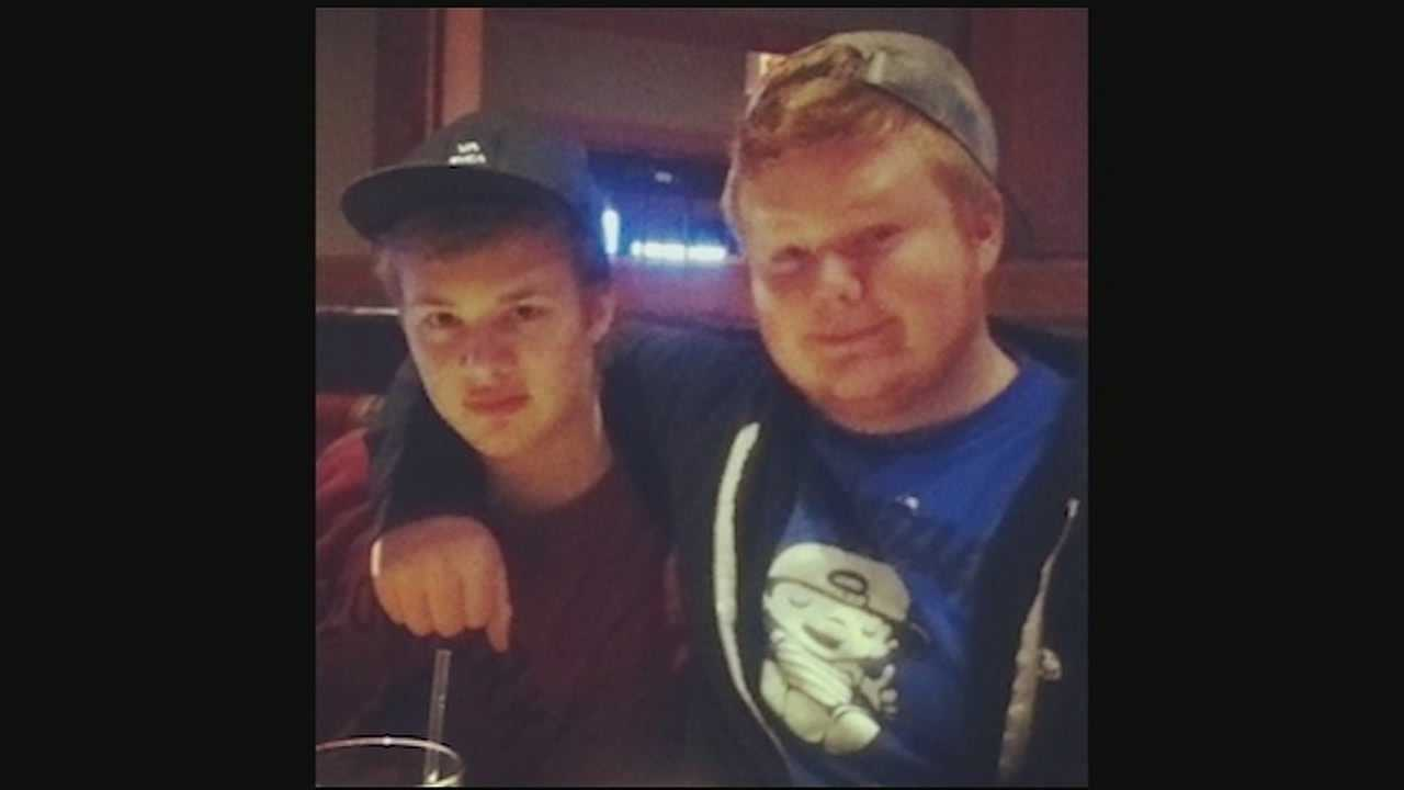Marty Stanaford, 19, and his friend Cameron Buerger, 20, went missing Saturday night.
