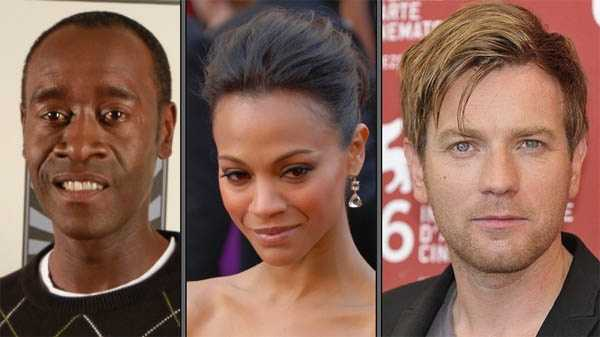 Don Cheadle, Zoe Saldana and Ewan McGregor