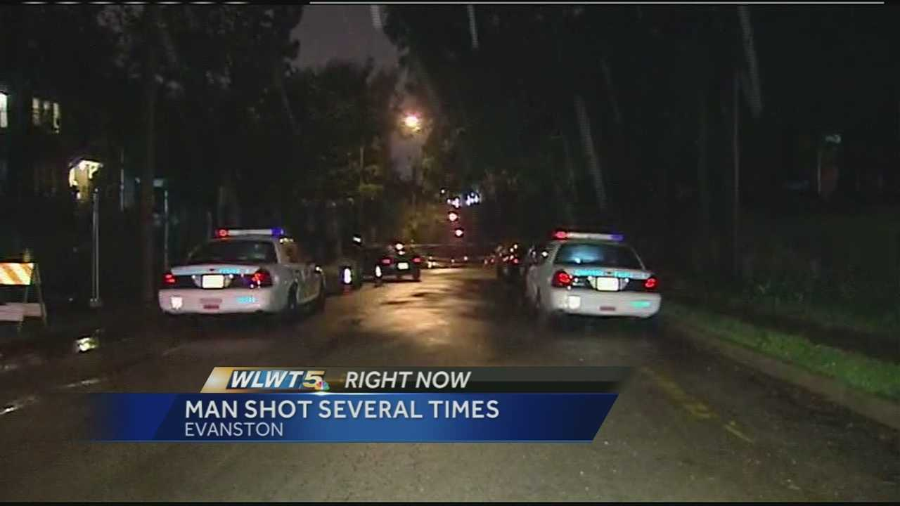 A man was shot several times in an overnight shooting in Cincinnati.