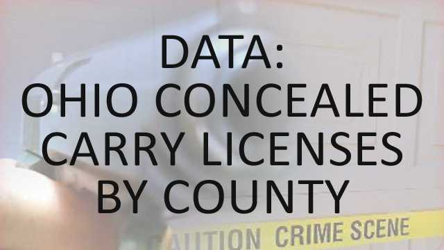 New data shows that more people than ever are carrying concealed weapons in Ohio. The attorney general said more than 32,000 people applied for received concealed carry licenses in the first three months of 2014. About half of the licenses were new and the others were renewals. See which county had the most licenses issued, renewed, suspended and revoked.