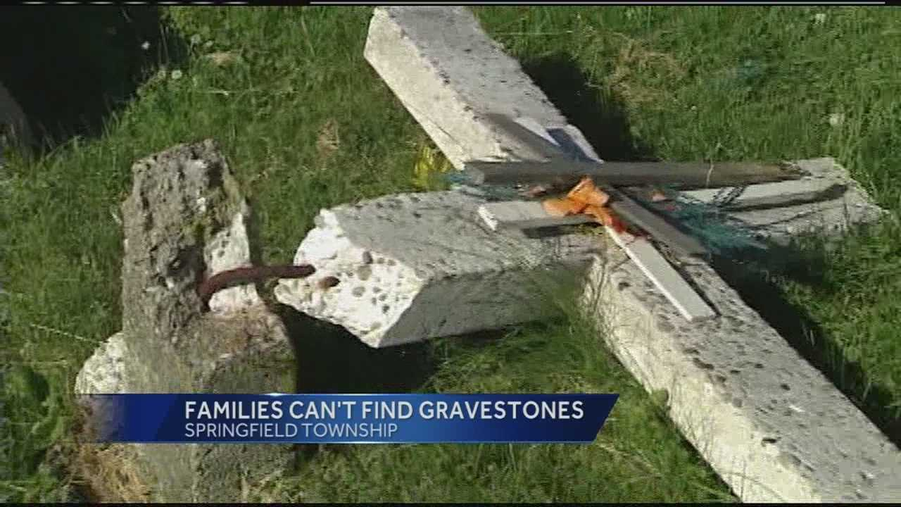 Several families visiting Beech Grove Cemetery in Springfield Township counln't find family members or found damaged headstones.