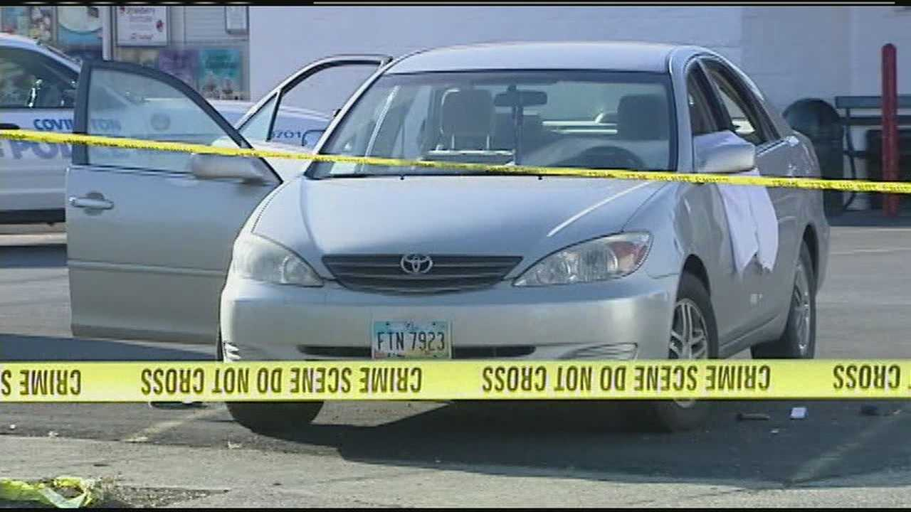 The shooting happened in the parking lot of a Dairy Queen restaurant near the corner of Daniels Street about 6 p.m. Sunday.
