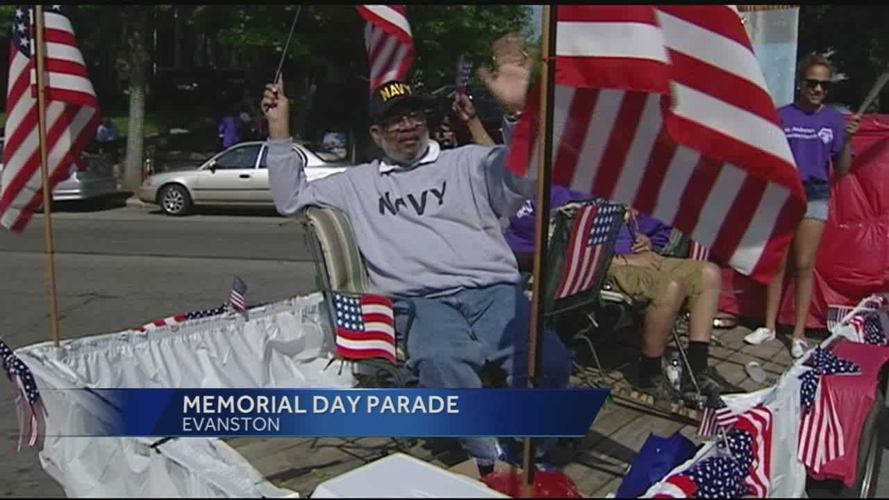 The Evanston Parade brought out a crowd, including military veterans, marching bands and the community. The parade is a 30-year tradition, organized by the Evanston Community Council.