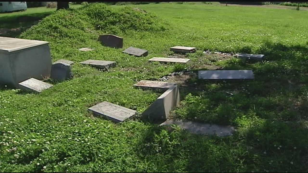 Families are devastated by what they say are deplorable conditions at Beech Grove Cemetery in Springfield Township. Broken headstones, overgrown grass and sinkholes exposing caskets are just some of the issues.