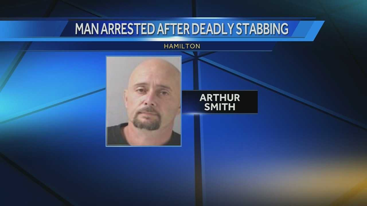 A man is accused of stabbing another man to death in a Sixth Street home Tuesday night.