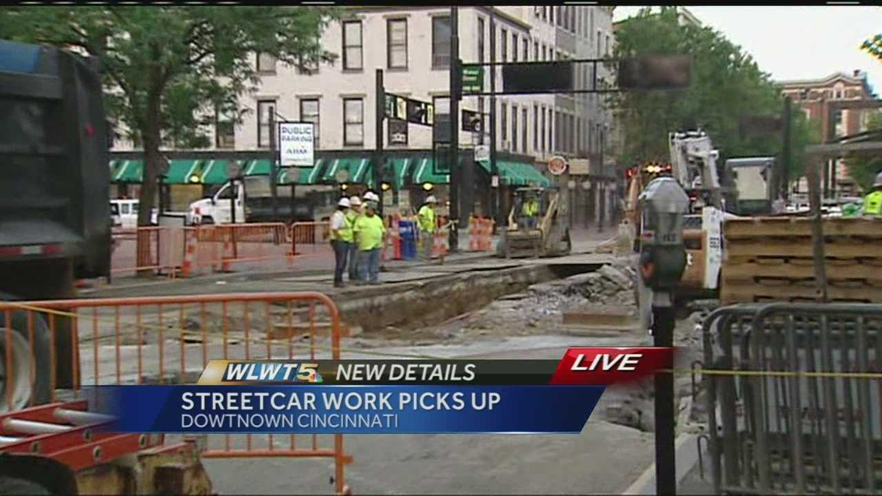 More work on the Cincinnati Streetcar route is taking place.