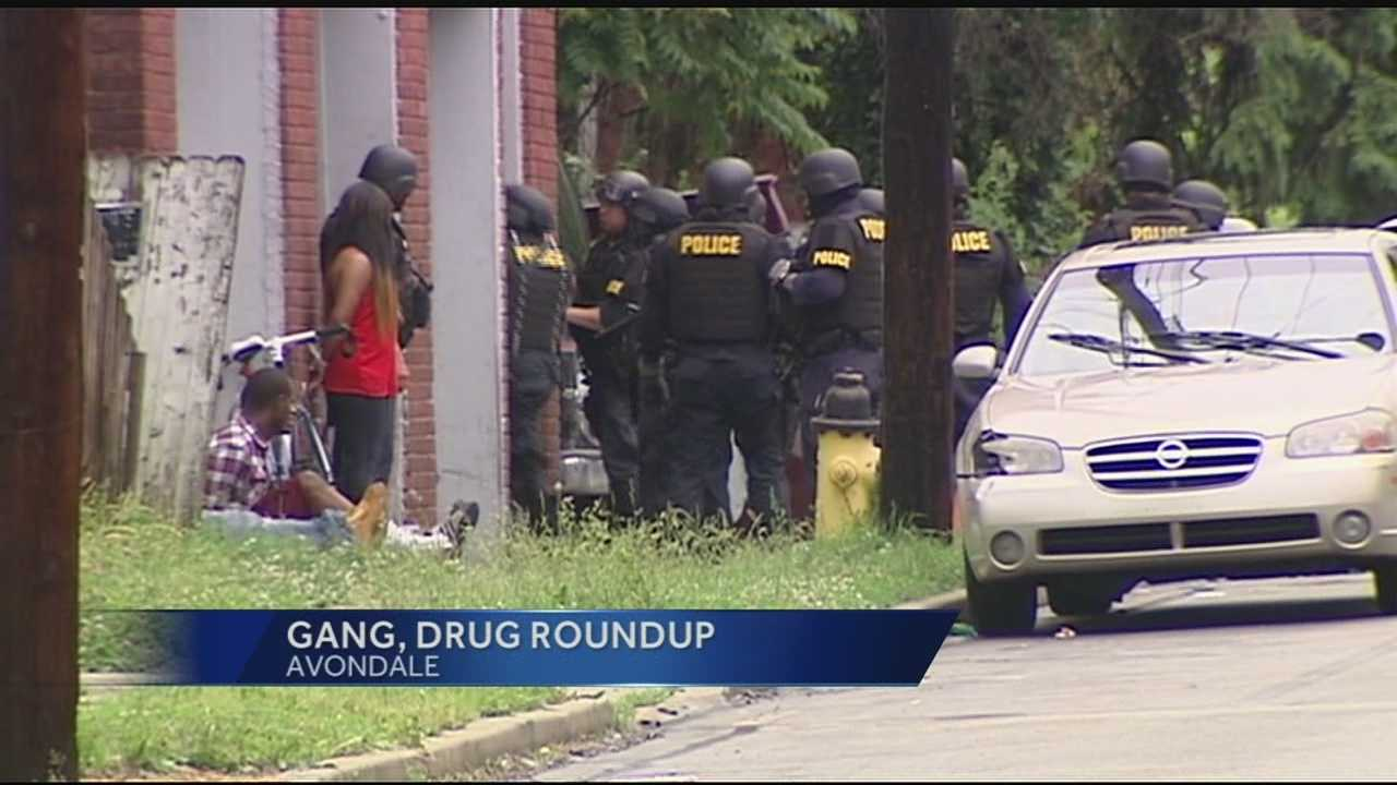 Police rounded up gang members involved in various crimes and drugs Wednesday. Four people were taken out of a building in Avondale. The building was described by police as a comfortable base drug activity for criminal suspects.Police said they are keeping the list of suspects handy. As summer approaches, they intend to turn up the heat.