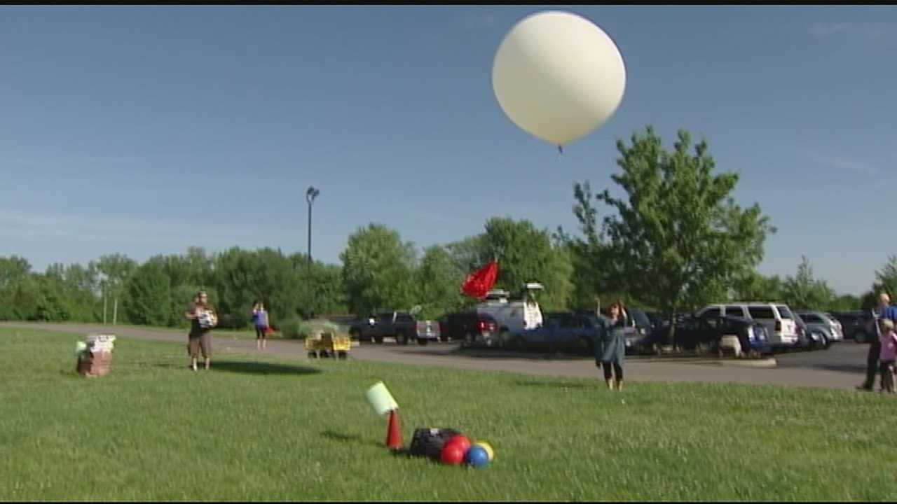 Lebanon Christian School launched their fourth weather balloon Friday morning as an ongoing experiment to see the atmospheres effects on different items, living and inanimate.