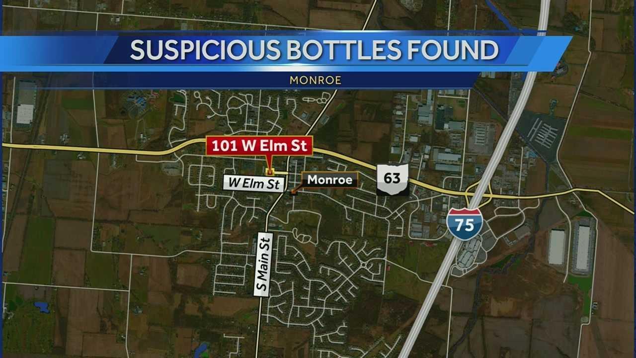 suspicious bottles found Monroe 6.8.14.jpg