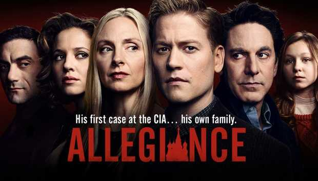 Allegiance: THURSDAYS at 10:00 pm. Alex O'Connor, a young idealistic CIA analyst specializing in Russian affairs, learns a shocking secret and his close-knit, affluent family is about to be split apart when it's revealed that his parents, Mark and Katya, are covert Russian spies deactivated decades ago. But today the Kremlin has re-enlisted them into service as they plan a terrorist operation inside the U.S. border that will bring America to its knees.Cast: Hope Davis, Scott Cohen, Margarita Levieva, Gavin Stenhouse, Morgan Spector, Annie Ilonzeh, Alexandra Peters, and Kenneth Choi.