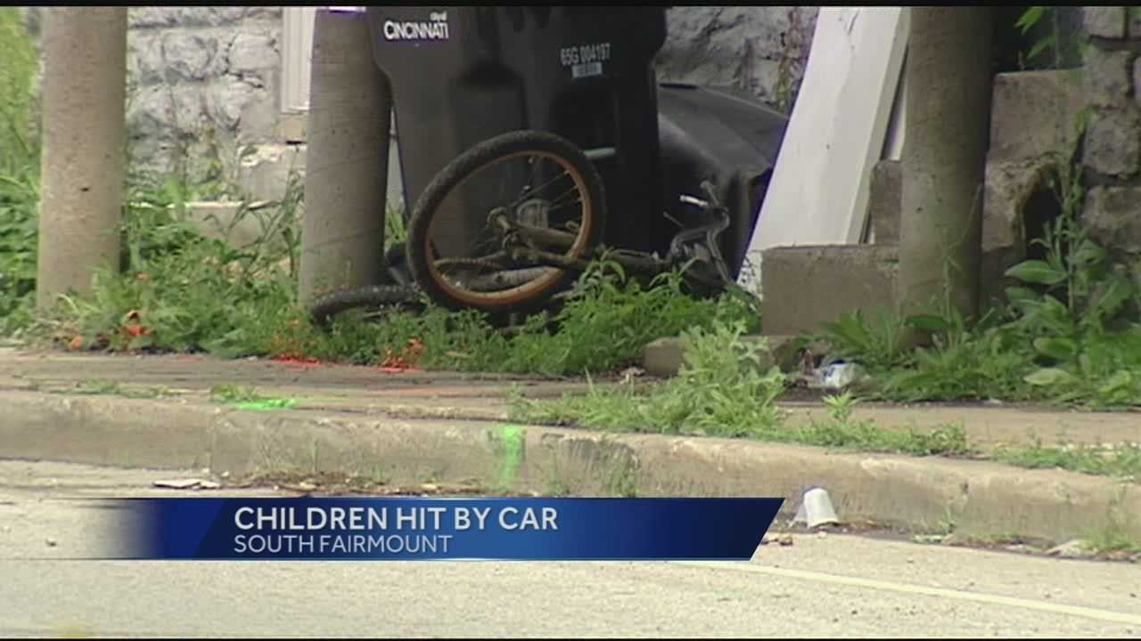 Police said 9-year-old Jalontae White and and 11-year-old Cameren Gellenbeck were riding their bicycles on the sidewalk when they were hit by a Nissan Maxima in the 1600 block of Westwood Avenue.