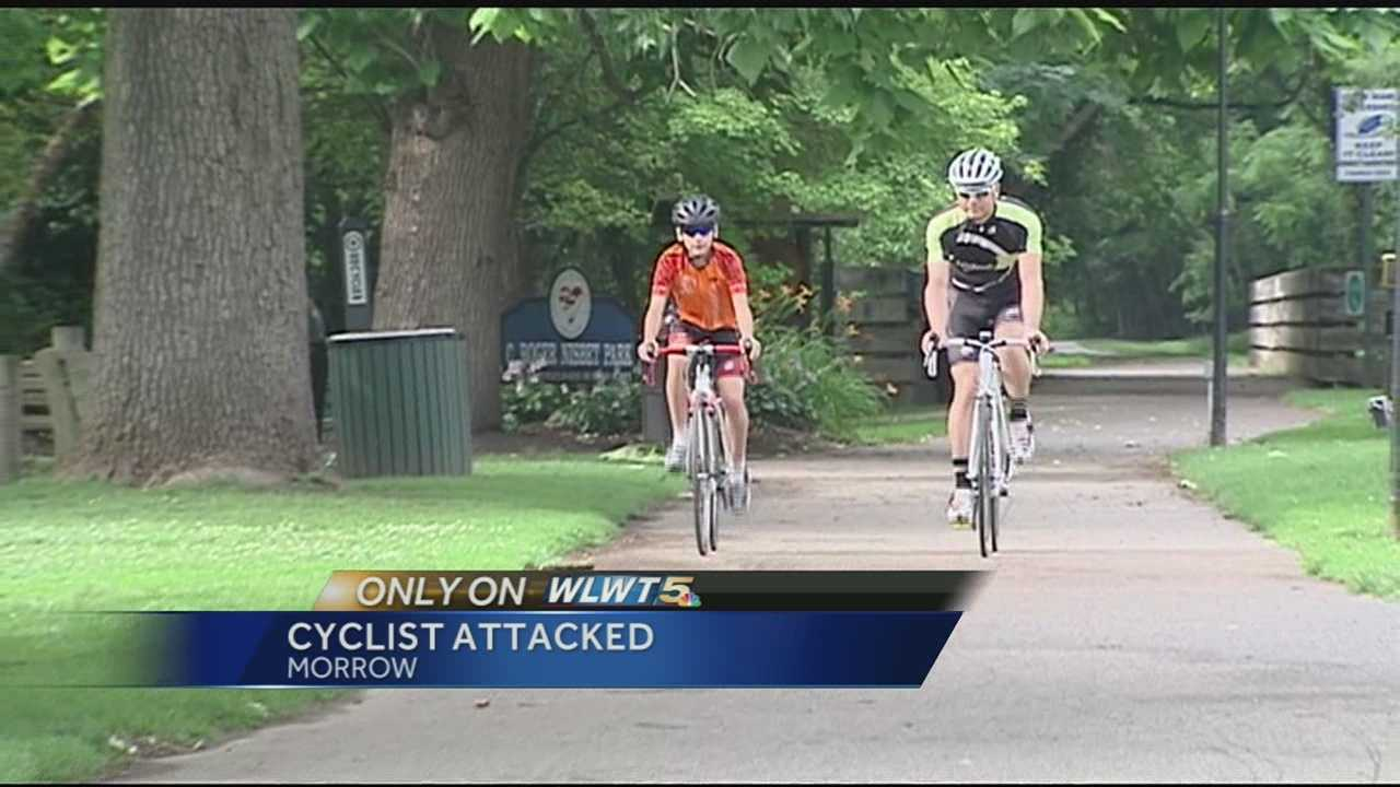 A father said he was assaulted in front of his son while they rode their bikes in Warren County.