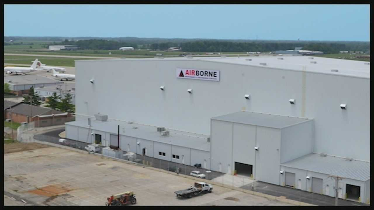 The hangar at the Wilmington Air Park, which is leased by Airborne Maintenance and Engineering Services, is bringing jobs and hope back to the Wilmington area. Wilmington saw economic downfall after DHL pulled out of he air park.