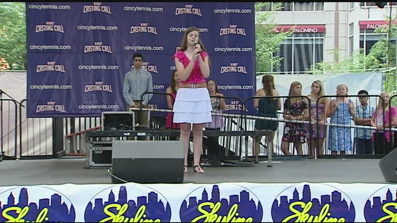 Auditions were held Friday for the finalists of a contest to see who will sing the national anthem at the Western & Southern Tennis Open.