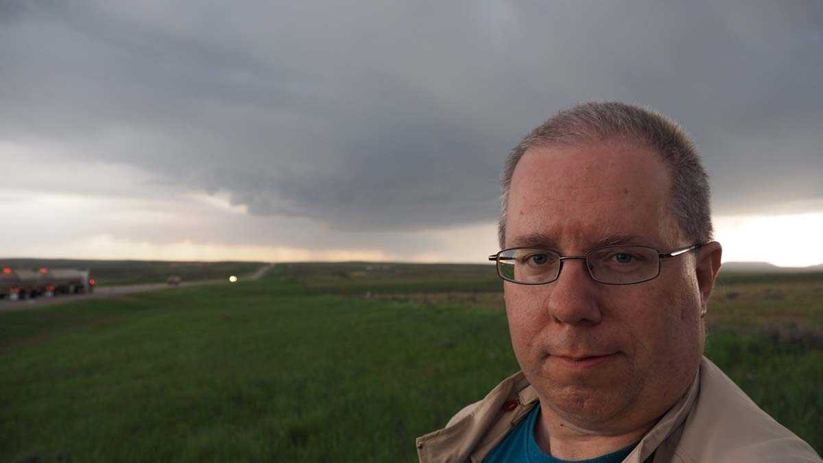 The obligatory severe storm selfie in Nebraska