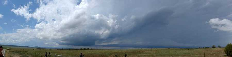 Panorama of the storm