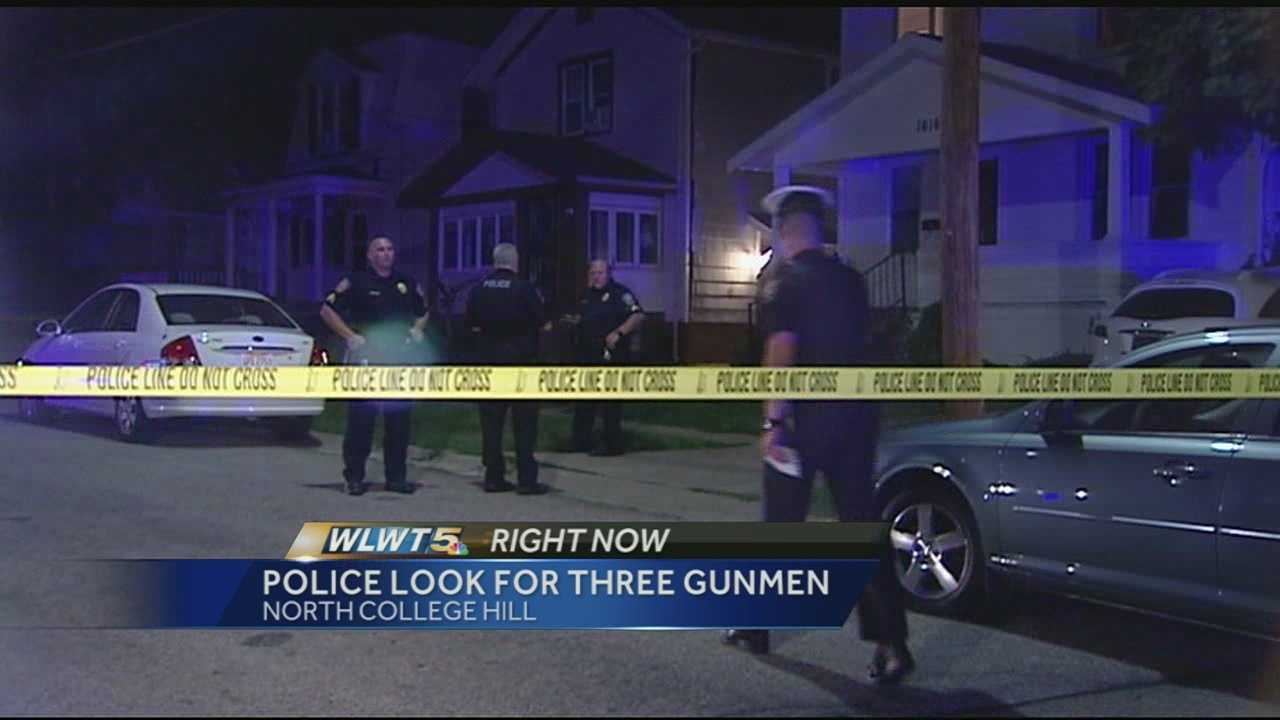 Police are looking for three men in connection with an overnight home invasion and shooting.