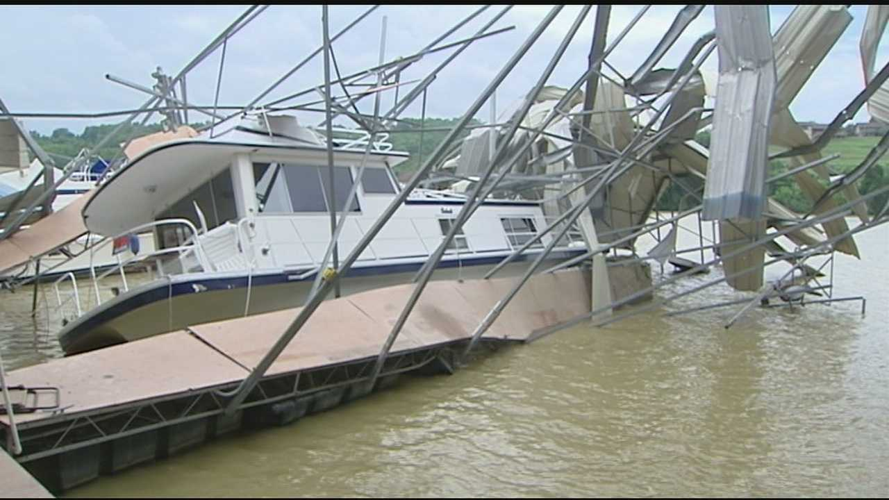 Gallatin County was hit hard Monday night by severe storms. The damage included Smugglers Cove Marina where the dock and boats were damaged by high winds.