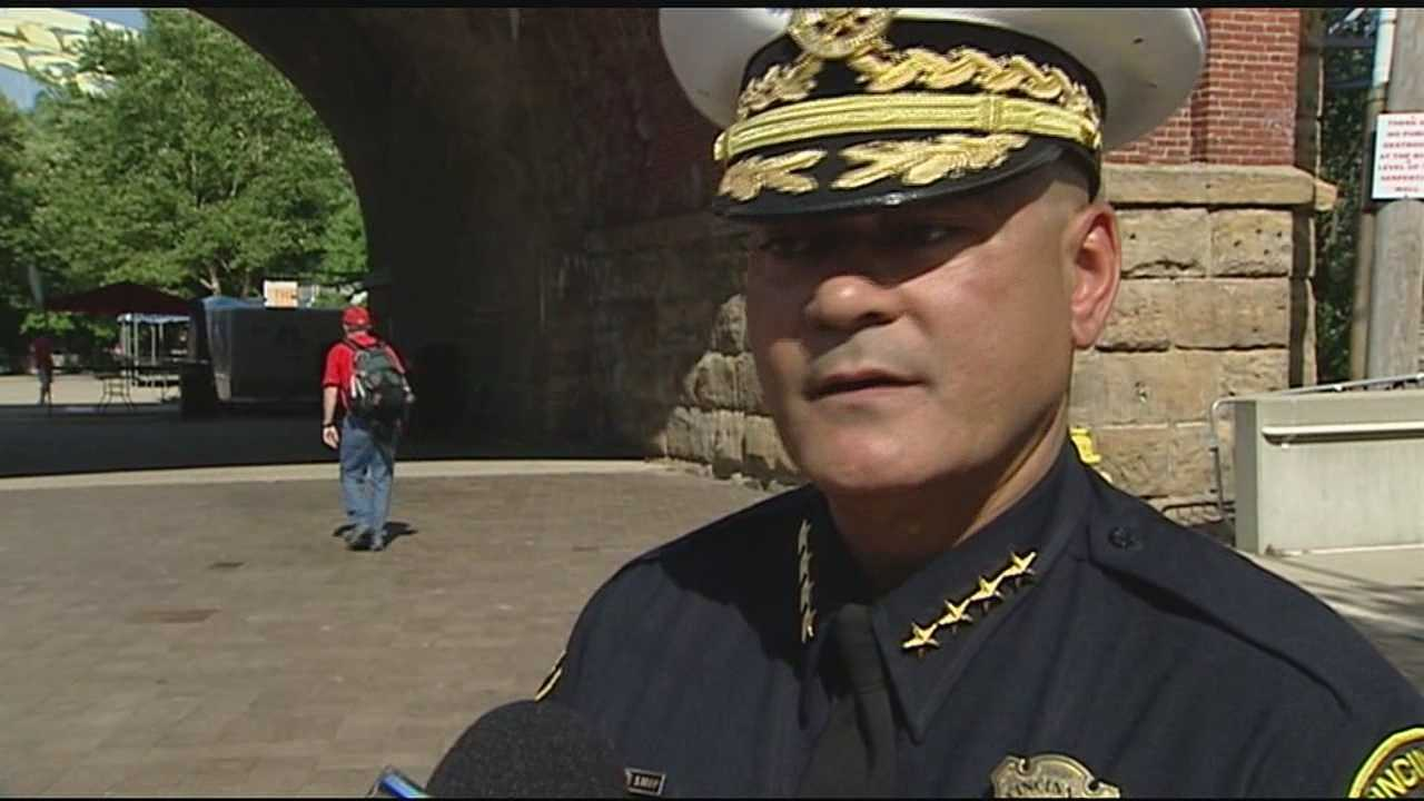 This weekend's Bunbury Music Festival comes on the heels of a violent week downtown, and Cincinnati's police chief is adopting an all hands on deck approach to safety.