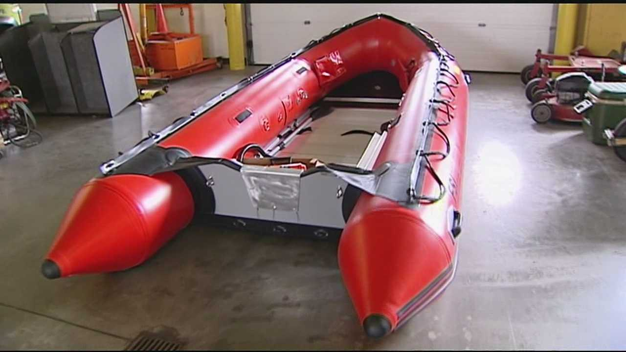 The Hamilton Fire Department received a new FSI, Inc. inflatable rescue boat Monday.