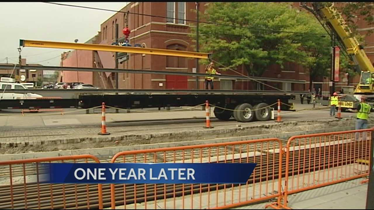 One year in and officials said the streetcar project is on schedule, on budget and in about 13 months people will see a streetcar moving through Over-the-Rhine.