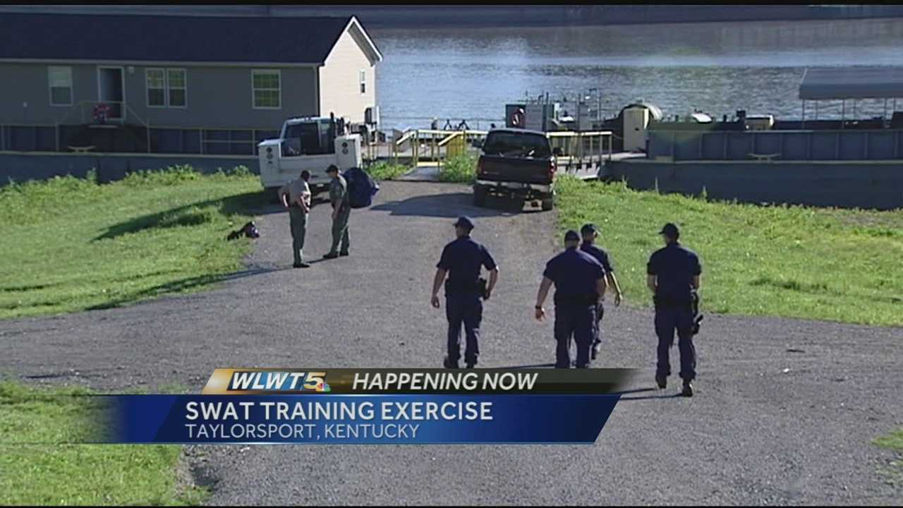 The SWAT teams were going through the same kind of drills that would simulate a hostage situation, or another emergency. Only they added the problem of doing it on a boat or barge.