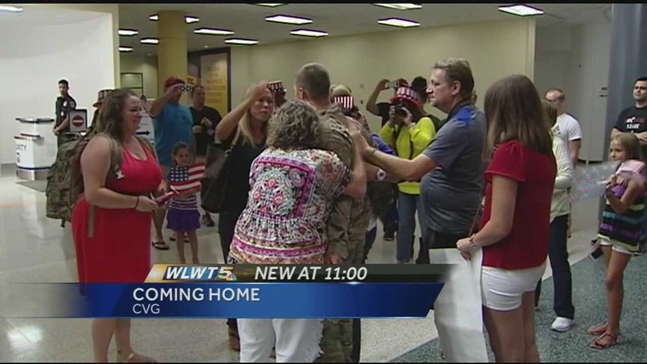 After nearly a year in Afghanistan, some dedicated Tri-State soldiers made it home Friday night. A group of soldiers from the 737th Engineering Detachment of the Army Reserves touched down at CVG and was met by dozens of friends, family members and complete strangers.
