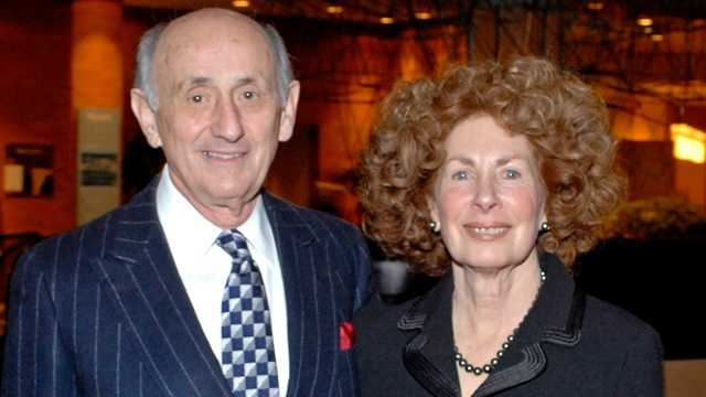 Lois Rosenthal with her husband Richard at the University of Cincinnati