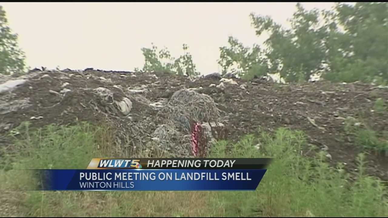 People who live near the old Elda landfill want to know when the stink will be gone.