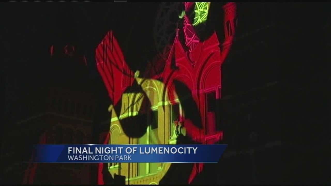 Thousands of spectators packed Washington Park for the final night of LumenoCity 2014.