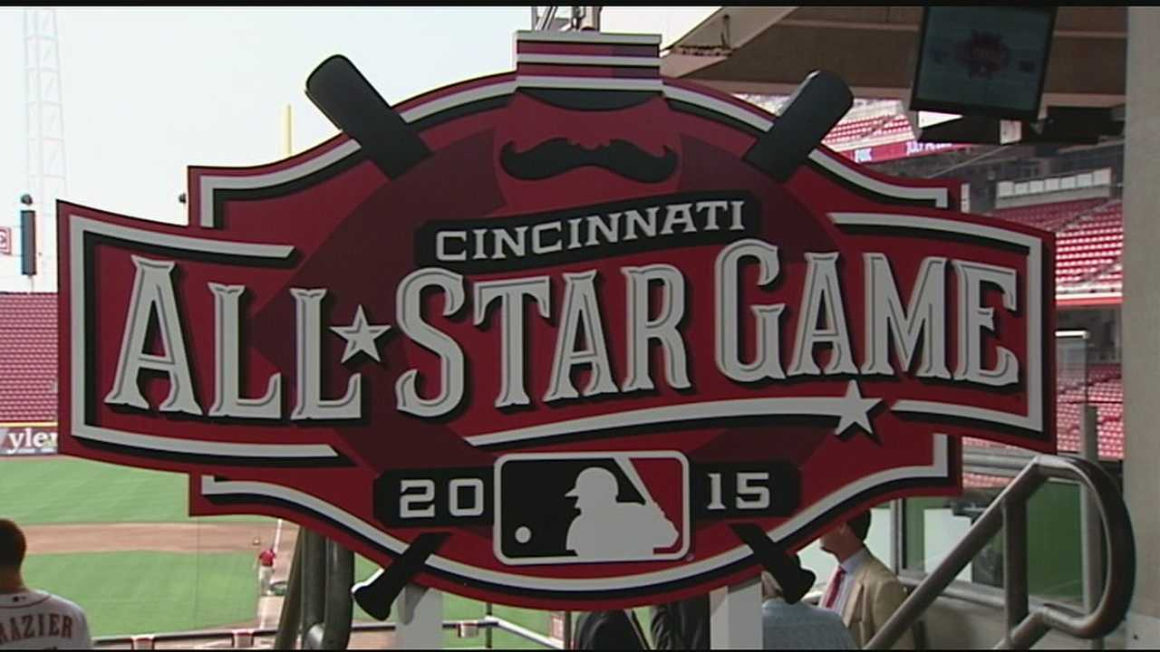 Representatives from Major League Baseball and the Cincinnati Reds, as well as city and county leaders, were on hand as the 2015 All-Star Game logo was unveiled Wednesday.