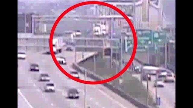 Video shows Brent Spence bridge crash