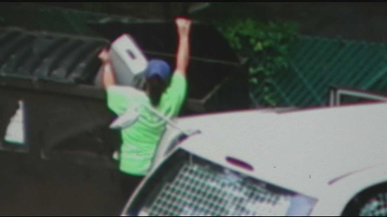 USPS said the worker seen in the video is not wearing a uniform because she is a city carrier assistant, or CCA.